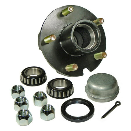 - Trailer Hub Kit - 5 Bolt on 4-1/2 Inch Circle - 1-1/16 inch I.D. Bearings