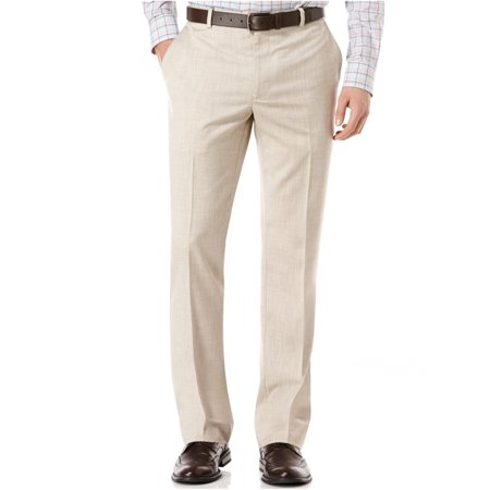 Perry Ellis Mens Flat-Front Texture Dress Pants Slacks