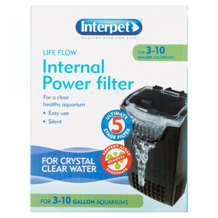 Interpet Life Flow Internal Aquarium Power Filter with 3 Cartridges