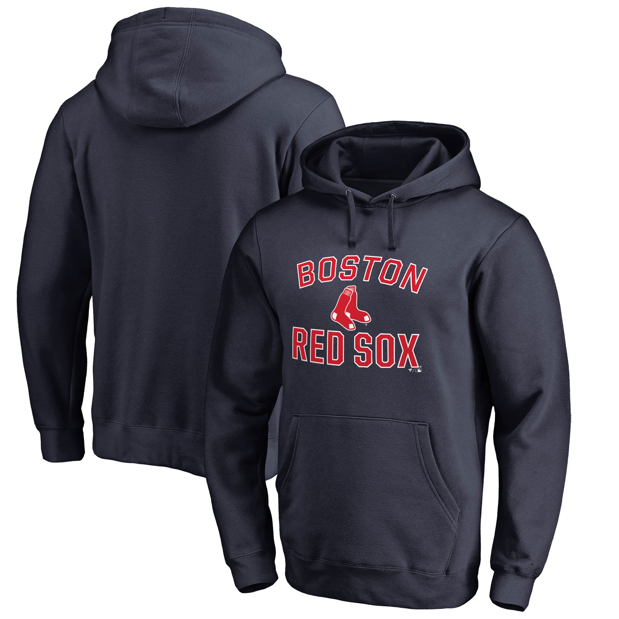 Boston Red Sox Fanatics Branded Victory Arch Pullover Hoodie - Navy