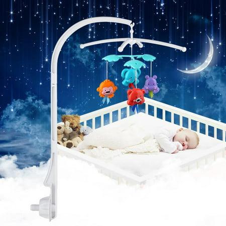 Zerone Crib Arm Bracket,Baby Crib Mobile Bed Bell Holder Toy