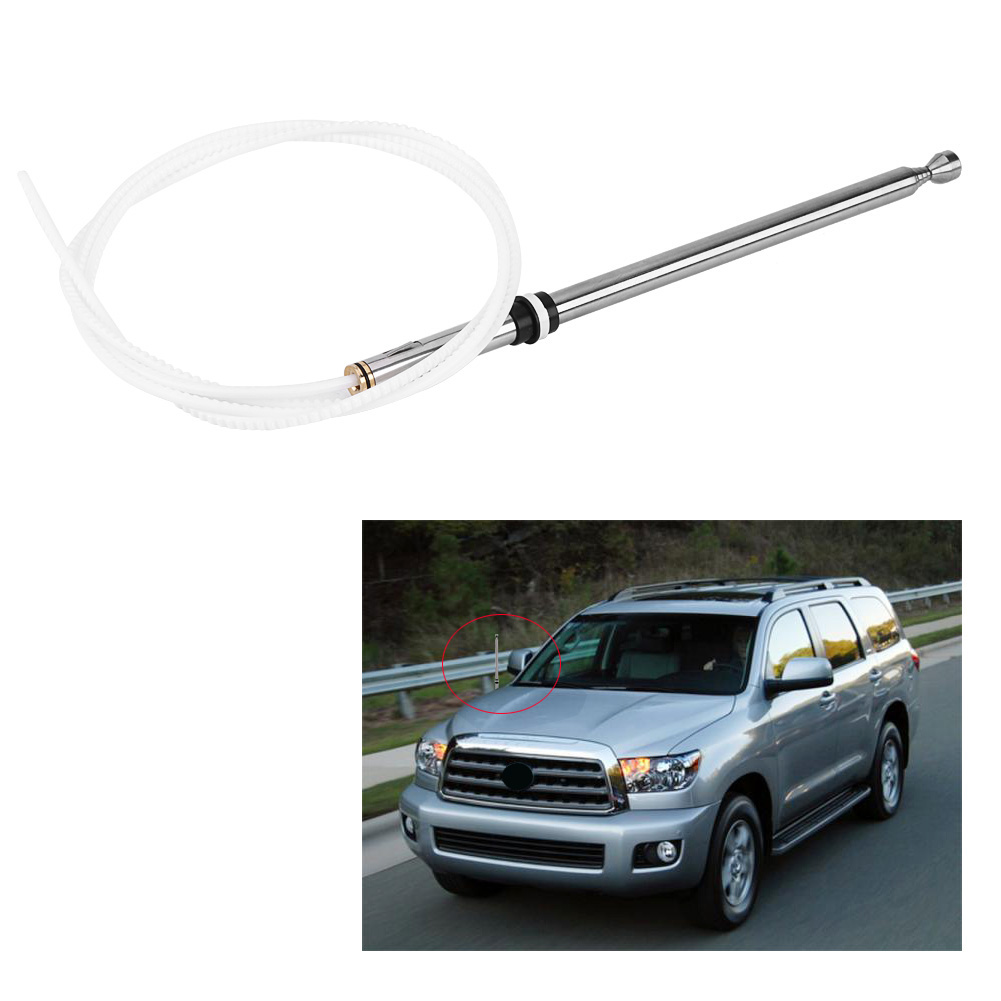 Hurrise Car Replacement Power Aerial Am  Fm Radio Antenna