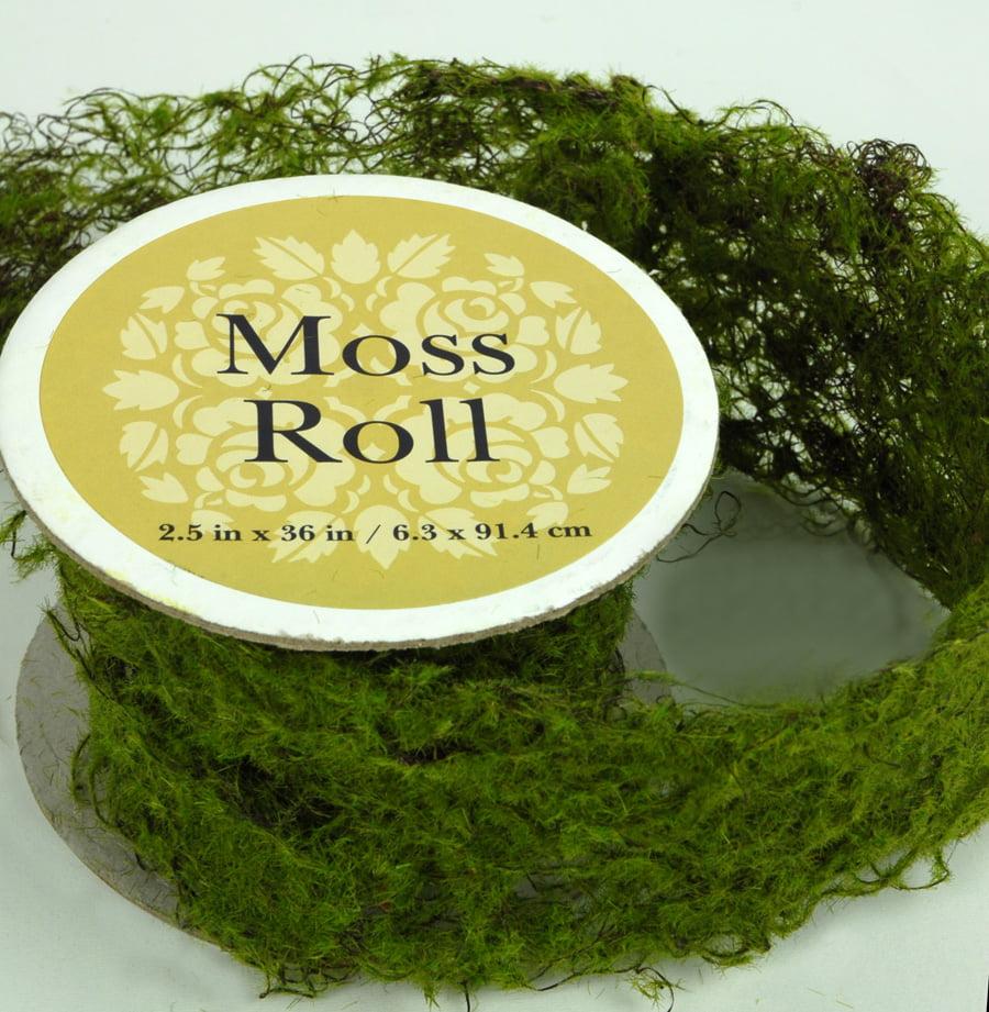 Sheet Moss Roll Artificial 2 5 Width X 36in 2 5in Wide Walmart