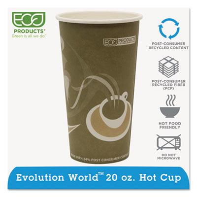 Evolution World 24% PCF Hot Drink Cups ECOEPBRHC20EW