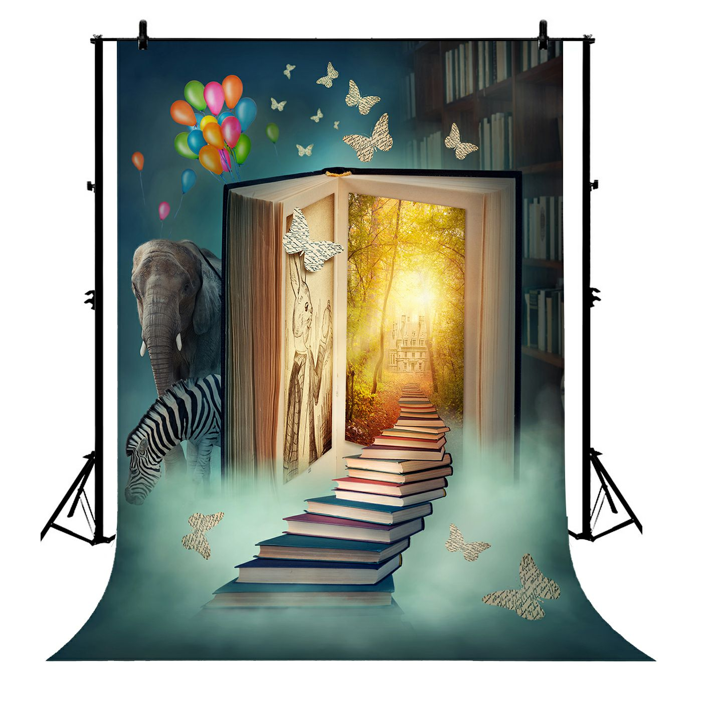 GCKG 7x5ft Book Fairy Tale World Animal Dream Newborn Polyester Photography Backdrop Photo Background Studio Props - image 4 of 4