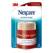 Nexcare No Hurt Wrap, 3 in x 2.2 yd, Unstretched