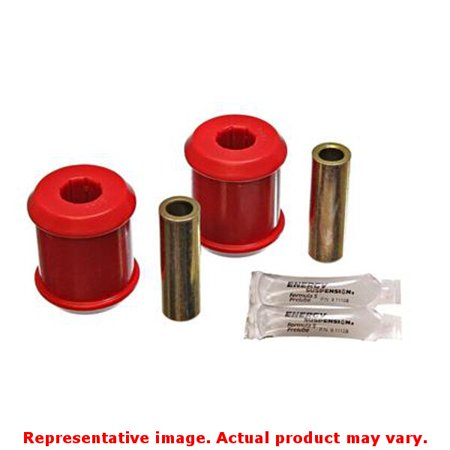 Energy Suspension 03-05 Mitsubishi Lancer EVO 8 Red Rear Trailing Arm Bushing - Trailing Arm Bush Set