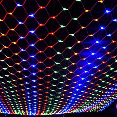 MeAddHome 1.5X1.5M 96LED 3X2M 200LED LED Net Mesh String Light Christmas Lights Outdoor Waterproof AC110V Chirstmas Wedding Party Holiday Decor connectable with Tail Plug ()