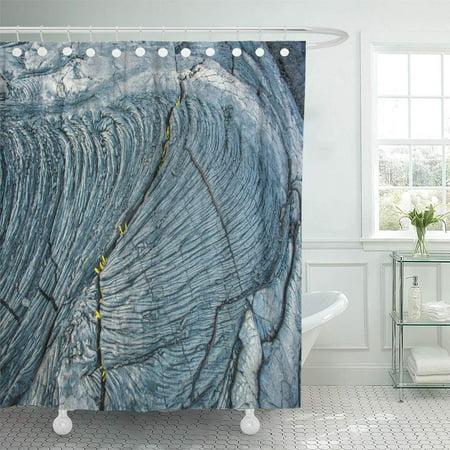 YUSDECOR Exotic Abstract Congealed Lava Big Island Hawaii Eruption Force Bathroom Decor Bath Shower Curtain 60x72 inch - image 1 de 1