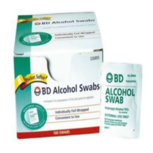 Alcohol Swabs Regular Bd - 100 Each