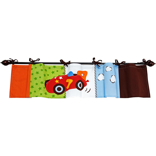 Little Bedding by NoJo - Zoom Cars Valance