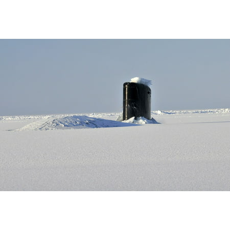- Canvas Print Winter Arctic Submarine Snow Sub Ocean Boat Sea Stretched Canvas 10 x 14