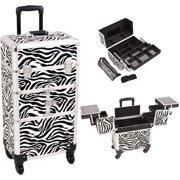 Sunrise I3764ZBWH Zebra Trolley Makeup Case - I3764