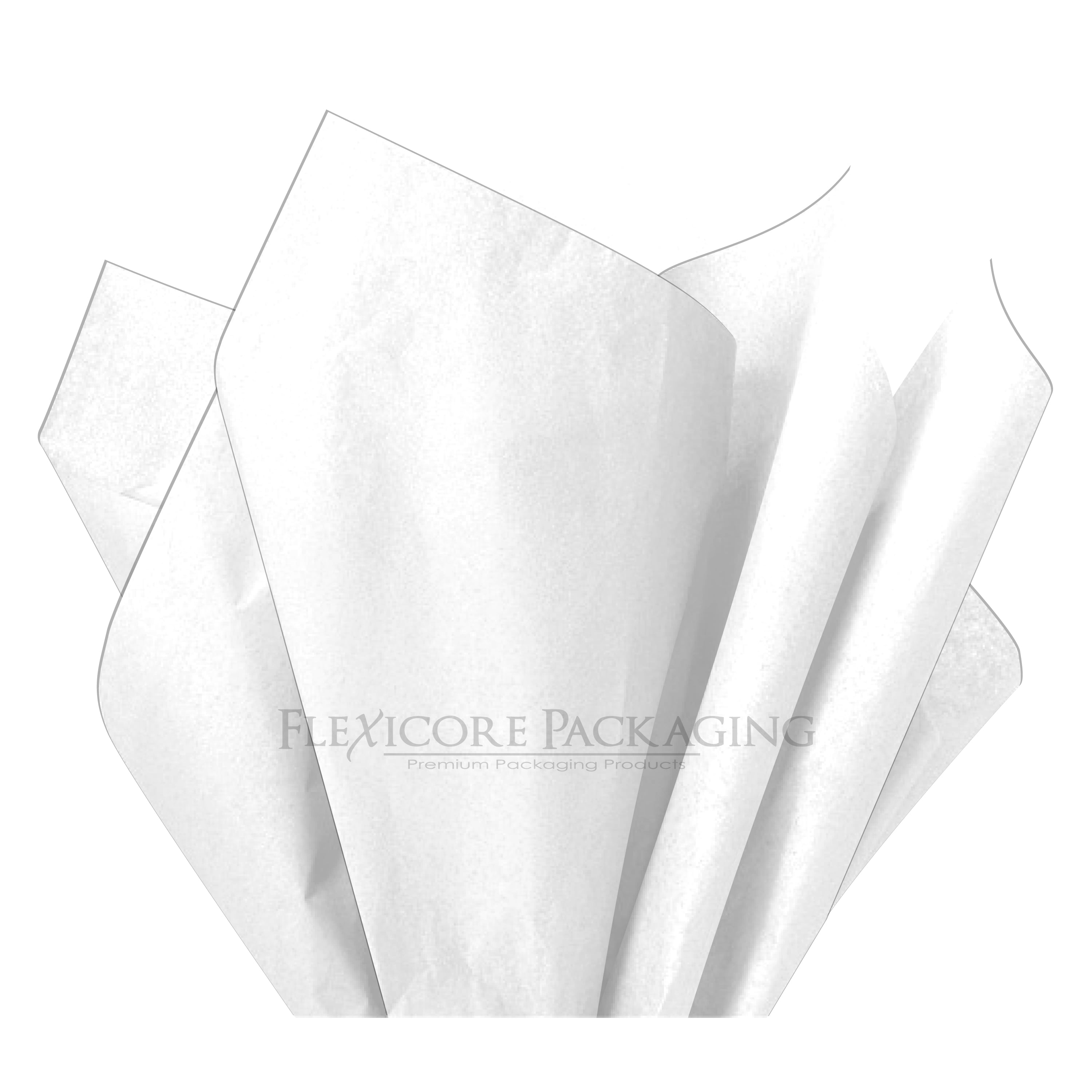 200 Sheets by COTU Basic Solid White Bulk Tissue Paper 15 Inch x 20 Inch