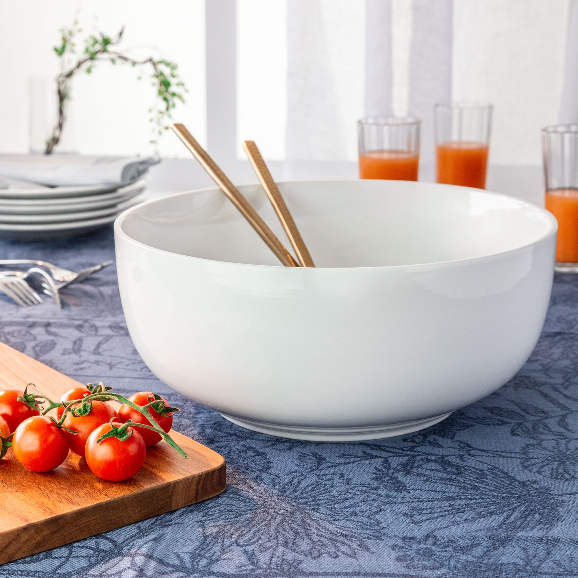Better Homes & Gardens Round Bowl, White Porcelain - Walmart.com
