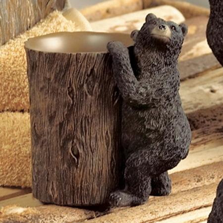 Black Bear Lodge Tumbler - Wilderness Bathroom Accessories