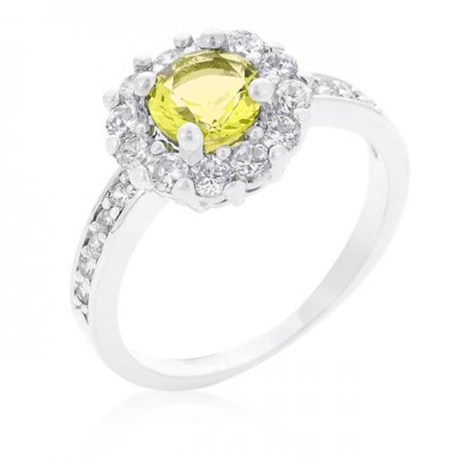 Icon Bijoux R08347R-C61-06 Bella Birthstone Engagement Ring In Yellow (Size: 06)