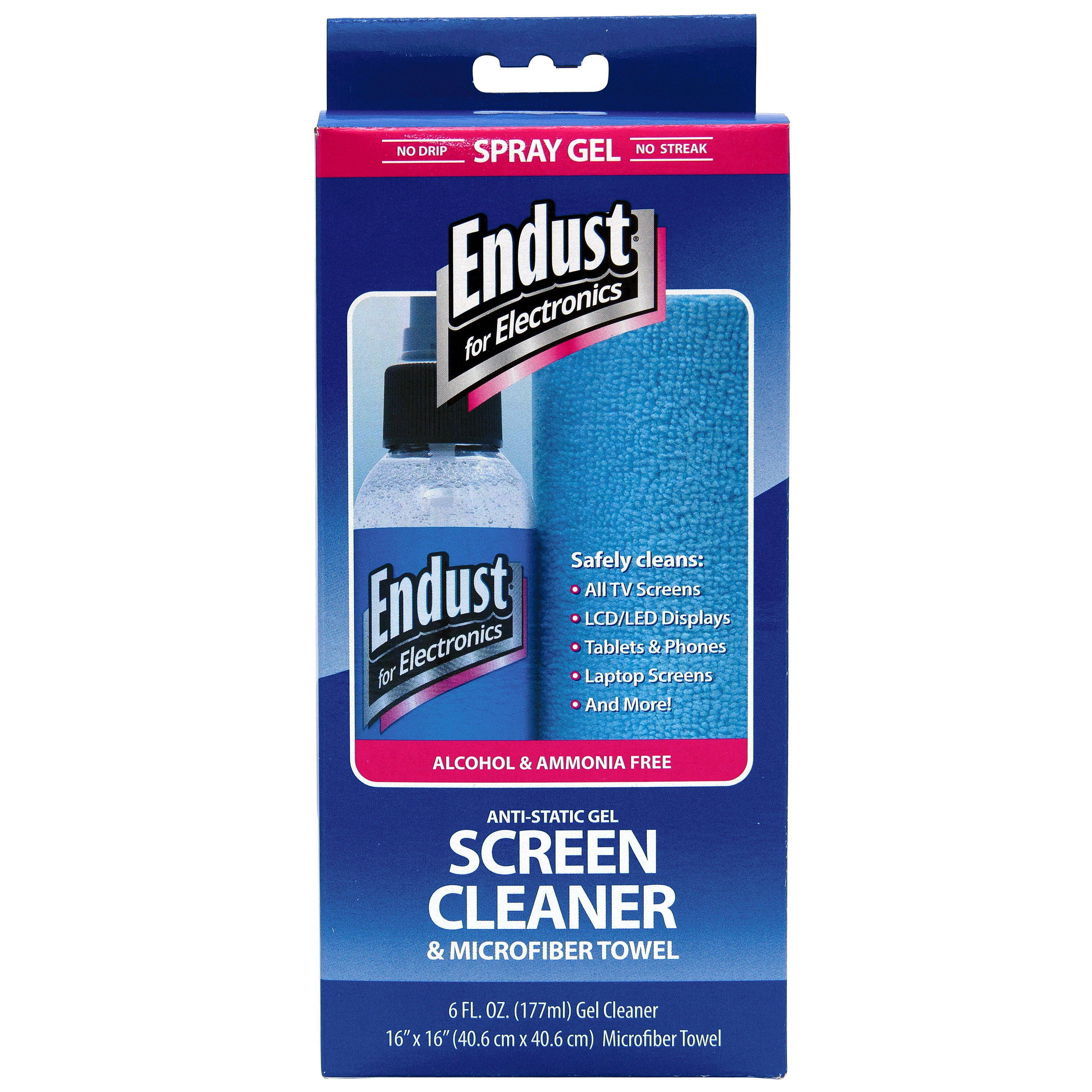 """Endust for Electronics 6 oz Gel Screen Cleaner and 16"""" x 16"""" Microfiber Towel Combo"""