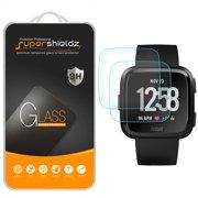 [2-Pack] Supershieldz for Fitbit Versa Tempered Glass Screen Protector, Anti-Scratch, Anti-Fingerprint, Bubble Free