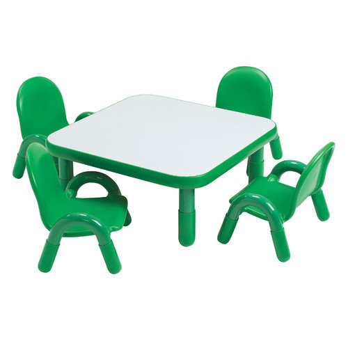 Angeles Square Baseline Toddler Table And Chair Set in Shamrock Green