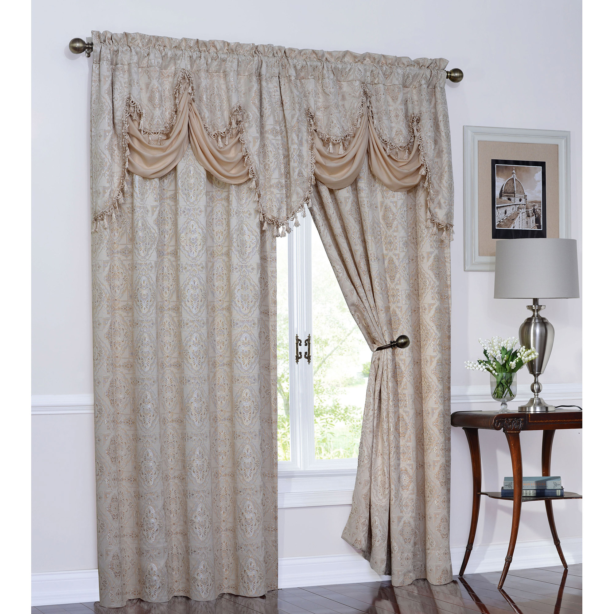 Portofino Polyester Valance with Onion Fringe