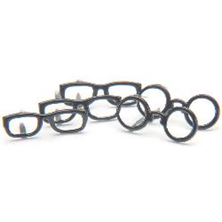 Black Brads (Eyelet Outlet Shape Brads-Black Glasses 12/Pkg)
