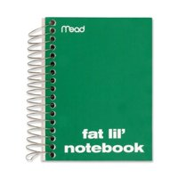 "Mead Notebook, College Ruled, 200 Sheets, 5-1/2""x4"", Assorted 45390"