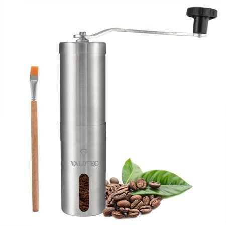 (VALDTEC  Portable Manual Coffee Grinder Heavy Duty Stainless Steel Coffee Grinder with Conical Ceramic Burr Mill)
