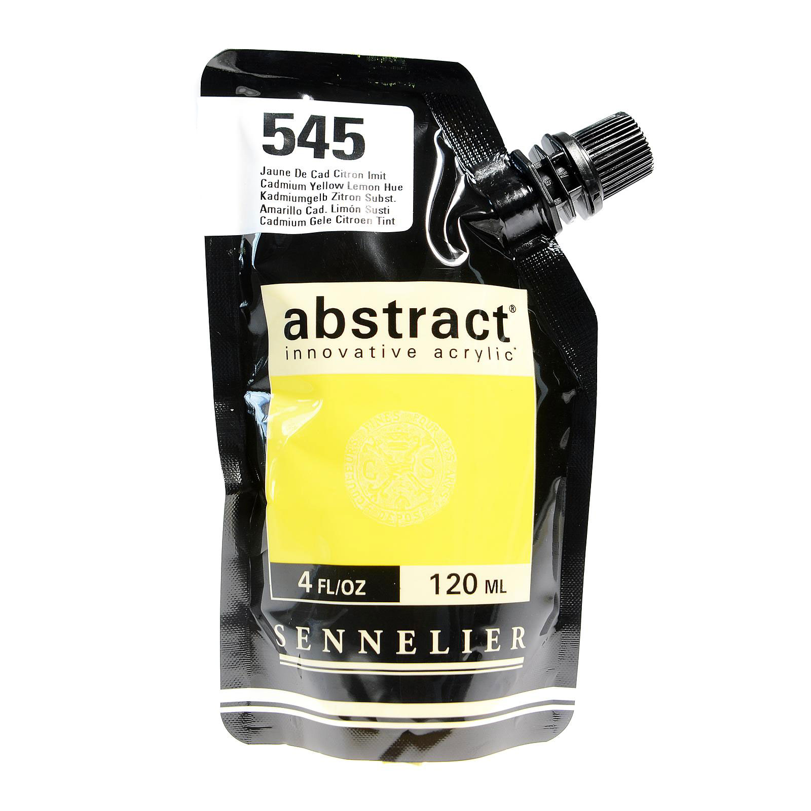Abstract Acrylics cadmium yellow lemon hue, 120 ml (pack of 3)