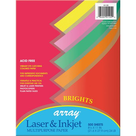 Pacon, PAC101105, Brights Bond Paper, 500 / Ream, Bright Assorted
