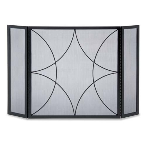 Pilgrim Hearth Forged Diamond 3 Panel Fireplace Screen