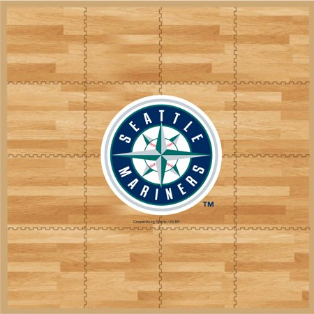 MLB Seattle Mariners Portable Foam Puzzle Tailgate Floor Mat by