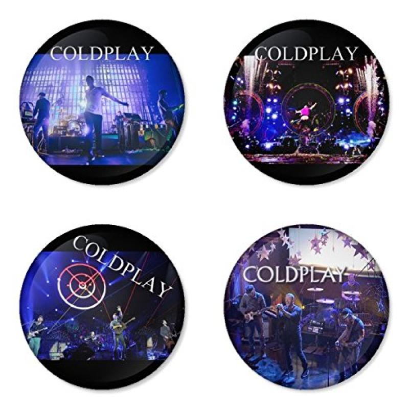 "COLDPLAY round badges 1.75"" Refrigerator Magnet"
