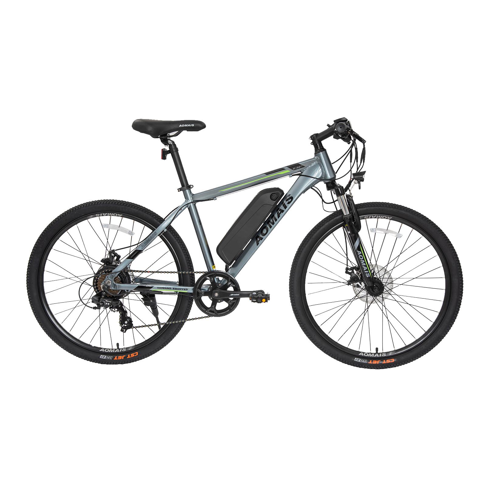 "Murtisol 26"" Aluminum Electric Bicycle Mountain Bike E-Bike 4 Speeds Battery 36V 250W"