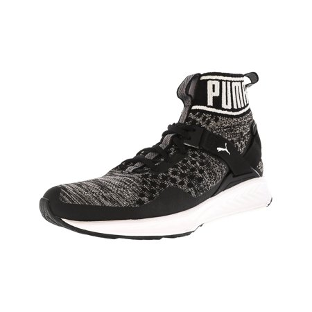 uk availability 84ade b07a1 Puma Men's Ignite Evoknit Black / Quiet Shade White Ankle-High Training  Shoes - 9M