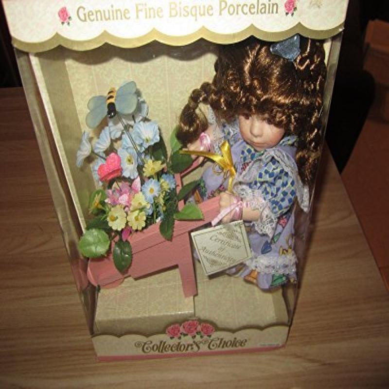 Dandee Genuine Fine Bisque Porcelain Doll Collector's Cho...