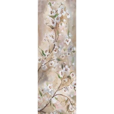 - Cherry Blossoms Taupe Panel II Poster Print by  Tre Sorelle Studios