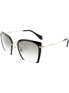 91f2781e62fc Product Image Miu Women s Gradient MU52RS-1AB0A7-52 Black Semi-Rimless  Sunglasses