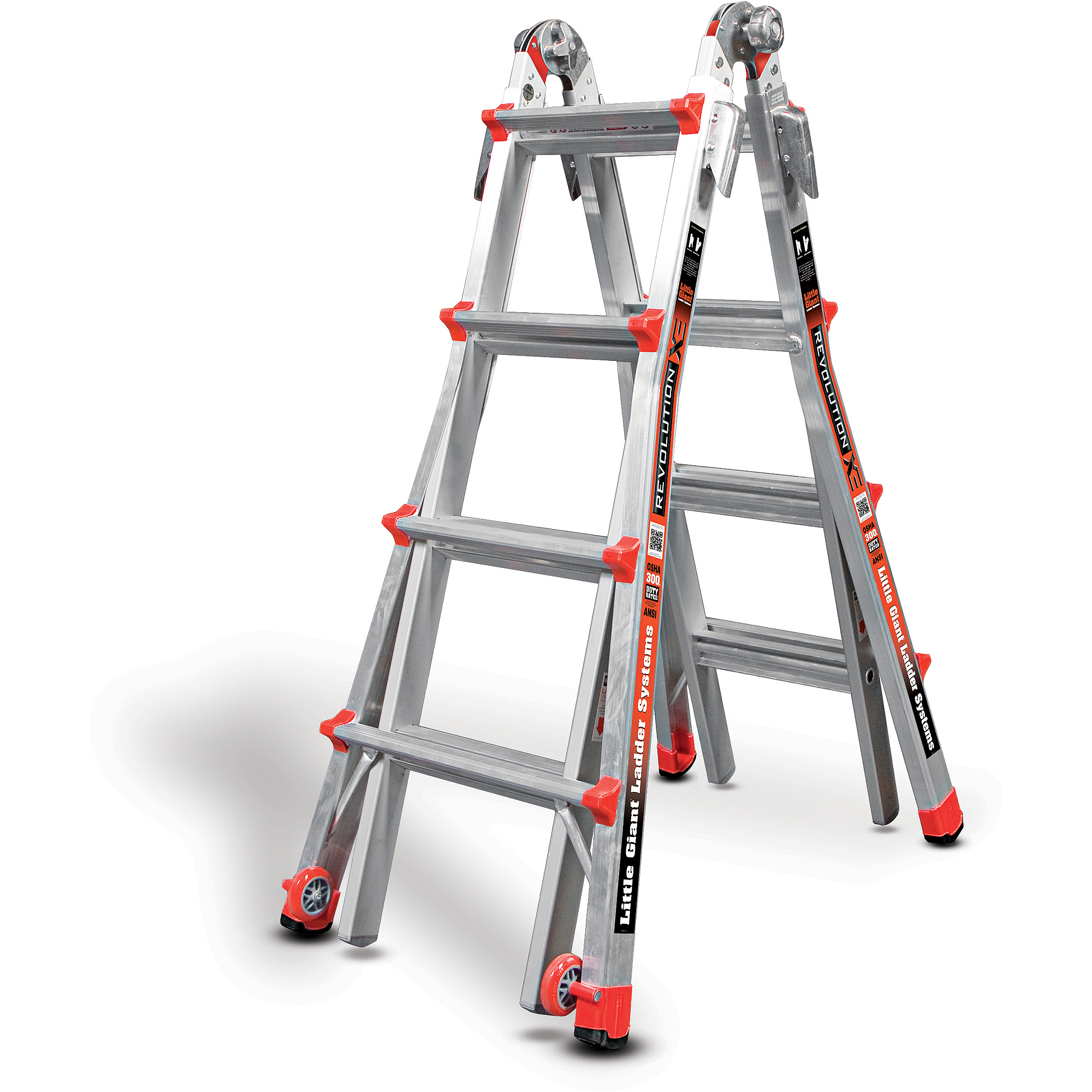 Little Giant Revolution, Model 17 Type IA -300 lbs rated, aluminum articulating ladder with trestle... by Wing Enterprises, Inc.
