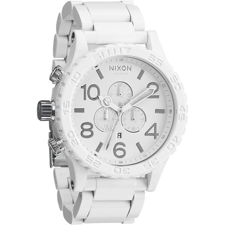Men's Nixon 51-30 Chronograph White PVD Watch (Nixon 51 30 Tide Watch)