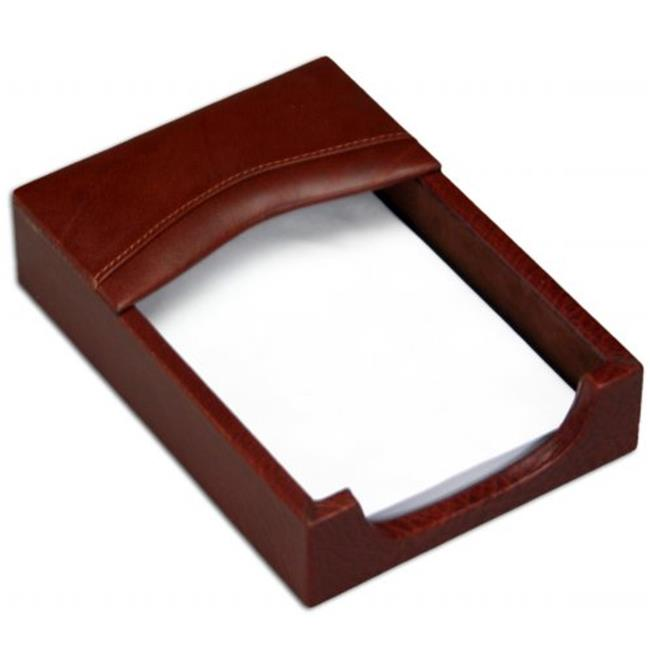4x6 Leather Memo Holder with Mocha Top Grain Leather Material by Made-to-Order