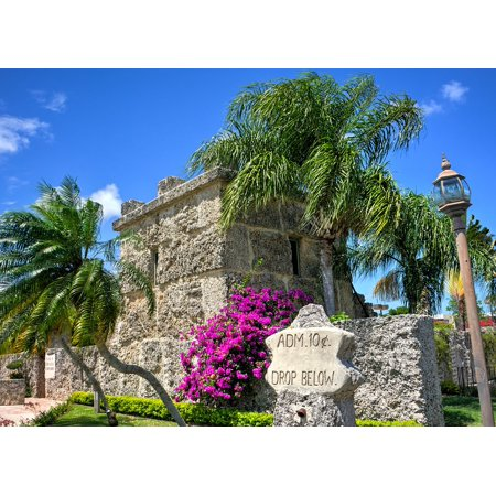 Coral Castle (Canvas Print Florida Homestead Coral Castle Miami Attraction Stretched Canvas 10 x 14)