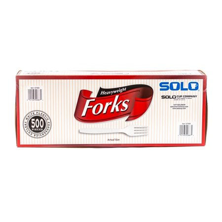 Plastic Fork Champagne - Solo Plastic Forks, White, 500 Ct