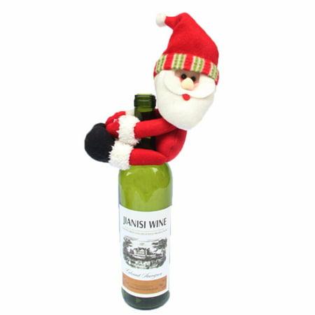 Christmas Santa Snowman Elf Wine Bottle Cover Ornament Christmas Party Table Decor