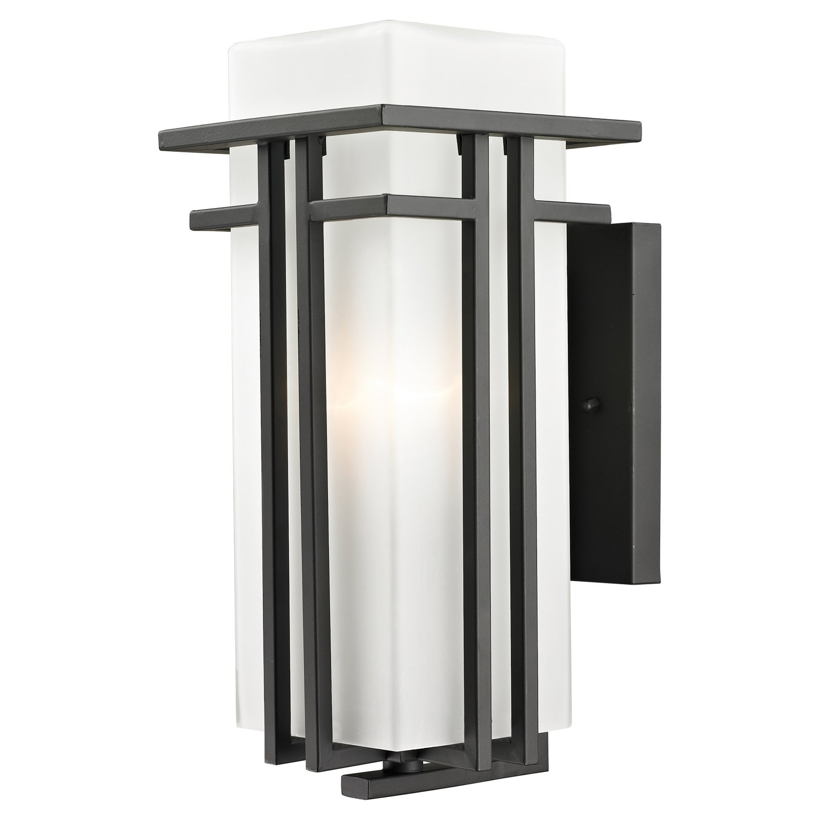 Z-Lite Abbey Outdoor 1-Light Wall Scone, Outdoor Rubbed Bronze