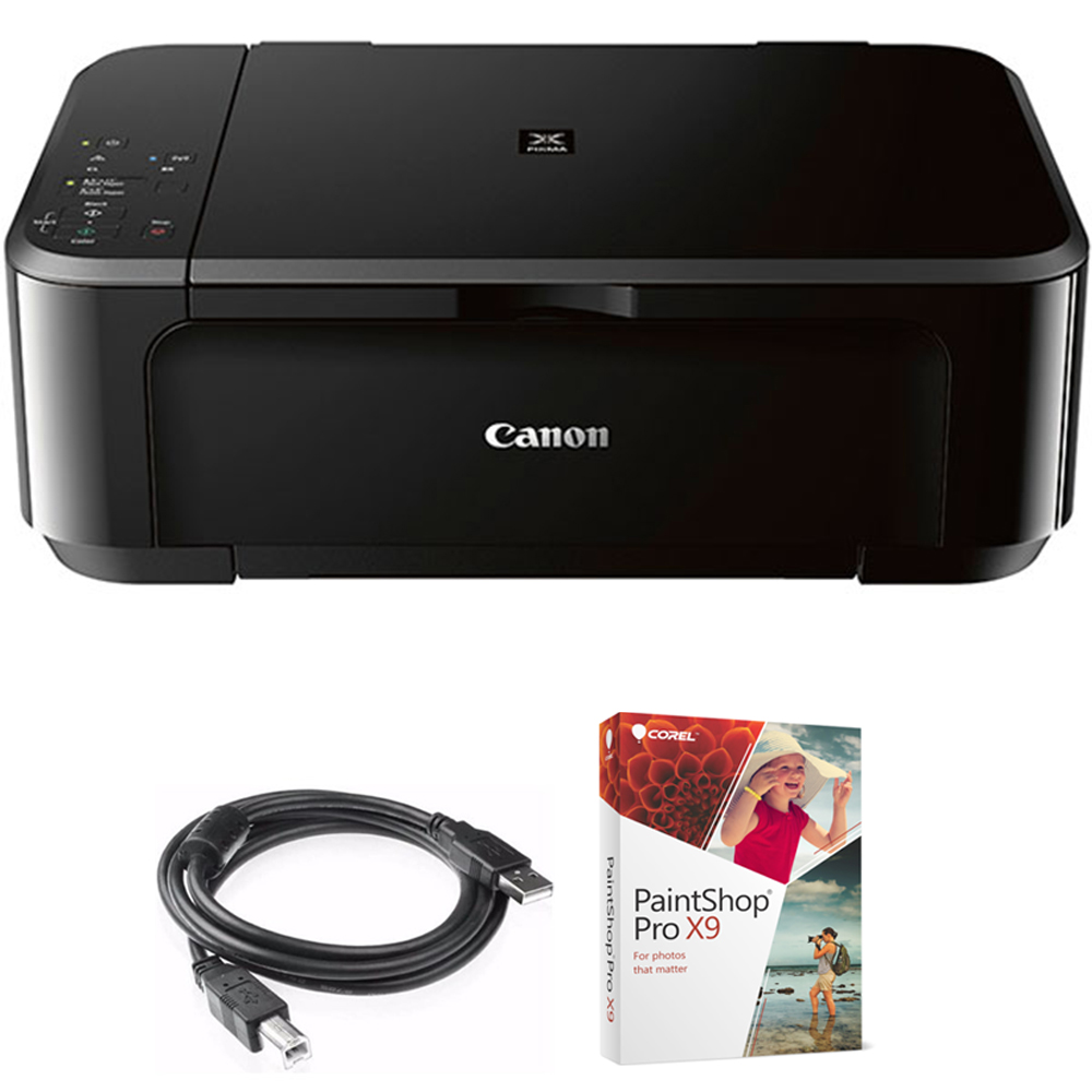 Canon Pixma Mg3620 Wireless Inkjet All In One Multifunction Printer 0515c002 Bundle With High Speed 6 Foot Usb Printer Cable And Corel Paintshop Pro 2018 Digital Download Walmart Com Walmart Com