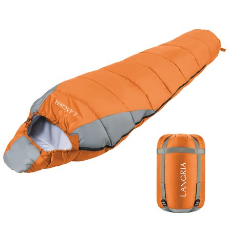 Langria Mummy Sleeping Bag 3 Season Compact Bags For S Indoor Outdoor Lightweight Sleepover Camping Backng