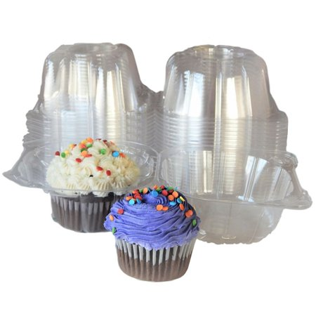 100pcs Plastic Cupcake Case Muffin Pods Dome Cups Cake Boxes - Cupcake Boxes With Inserts