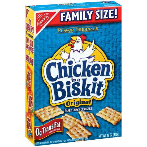 Nabisco Flavor Originals Chicken In A Biskit Snack Crackers, 12 oz