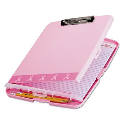 "Breast Cancer Awareness Clipboard Box, 3/4"" Capacity, 8 1/2 x 11, Pink, Sold as 1 Each"